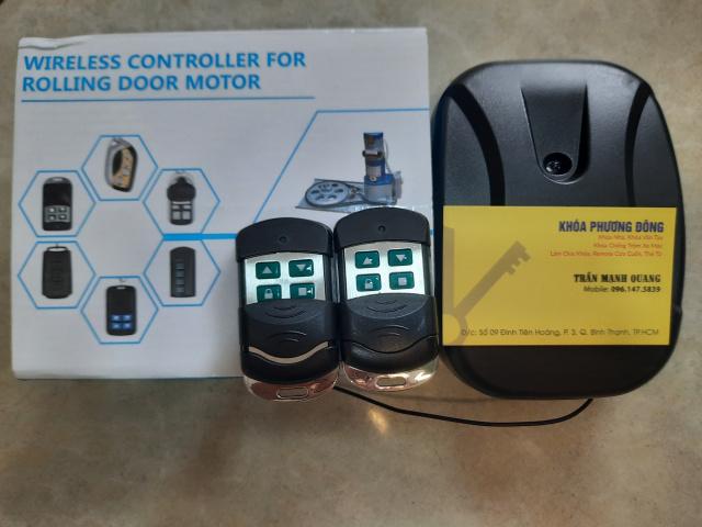 Hộp điều khiển cửa cuốn mã gạt